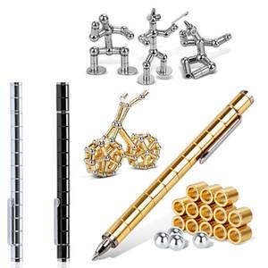 Polar Creative modulaire Pen aimants magnétiques boule TOY tactile stylo avec 12 boules en acier adulte TOY cadeau chaud