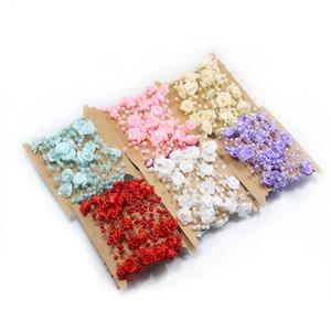 5m Beads String bouquet di fiori rosa perla nuziale Decorazioni di nozze catena decorativa Fiori corone partito fai da te accessori XD21920