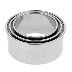 3шт нержавеющая сталь клецки обертка производитель круглый торт яйцо тесто резак