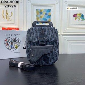 1KOG 9006 de la lona y piel de becerro negro de grano bolsos del morral de los hombres de moda MOCHILA DE NEGOCIO BOLSA las bolsas de mensajero del bolso de balanceo Suave Cara EQUIPAJE