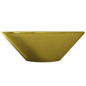 Gold Ceramic 42X14 Cm Washbasin Bathroom Storage Organization
