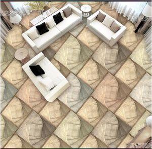 Custom photo wallpaper 3d self-adhesive waterproof flooring wall sticker Modern solid geometric abstract pattern 3D floor mural wall papers