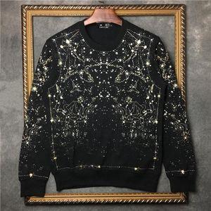 DUYOU nuova marca di abbigliamento felpa uomo di arrivo di modo stellato hoodie felpa nera maschio DY5647 cotone sciolto