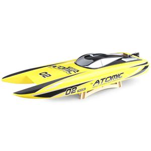commercio all'ingrosso 792 - 4 barca RC 65 km / H 2.4 GHz ad alta velocità 2CH materiale ABS 300 m distanza telecomando e tempo di gioco lungo