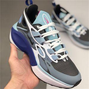 react mens running shoes Bleached Coral Dusk Purple Grey and Orange In My Feels Bauhaus triple black men women Outdoor sports sneaker NM3562