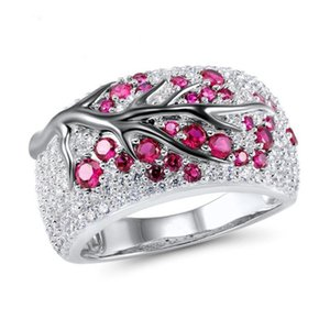 Crystal Tree Branch Ring New Design Diamond Rings Wedding Ring Gift for Women Fashion Jewelry