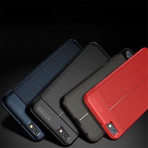 Moda slim à prova de choque de couro macio tpu phone case capa para lg g7 v30 g6 q6 q6 além de k8 2018
