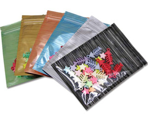 multi color Resealable Zip Mylar Bag Food Storage Aluminum Foil Bags packing bag Smell Proof Pouches Front Clear