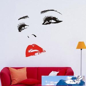 All'ingrosso-fai da te Belle Cheryl Cole Viso Occhi e Labbra parete Art Sticker pittura camera decorazione domestica Dimensioni finali