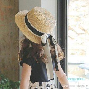 Hotest Kaki Straw Sun Filles Femmes Chapeaux bobs pour les enfants à large Brim Summer Beach Hat Enfants Femmes Visor Caps Livraison gratuite