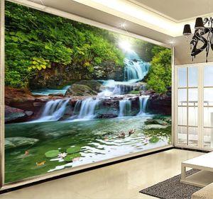 Chute d'eau, de beaux paysages, paysages naturels, mur papier peint paysage pour les murs 3 d pour le salon