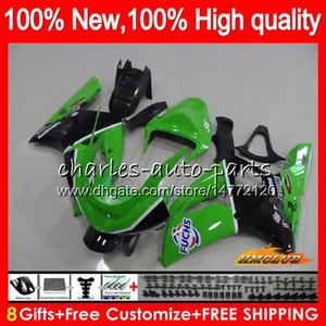OEM corpo per Kawasaki ZX 6 R 636 600cc ZX600 600 CC ZX636 36HC.77 ZX 6R 03 04 ZX636 fabbrica verde ZX600 ZX6R 03 04 ZX6R 2003 2004 carenatura