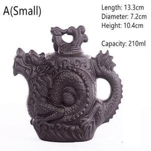vente chaude Théière en céramique traditionnelle chinoise Théiere Dragon et Phoenix bouilloire à thé haut de gamme Infuser Violet Clay Tea Set