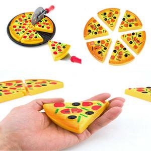 6PCS infantil para niños de juguete divertido Rebanadas de la pizza Ingredientes Pretend Cena Cocina Play Food juguetes de los niños del regalo de cumpleaños de Navidad