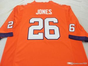 las mujeres de Hombres jóvenes Clemson Tigers Sheridan Jones # 26 del jersey del fútbol de tamaño s-4XL o costumbres, cualquier nombre o el número del jersey