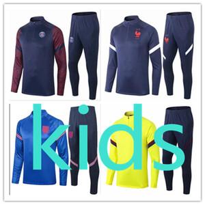kids france ajax 2020 2021 psg  soccer football tracksuit  training camisetas de madrid real  england  liverpool tracksuits barcelona juventus