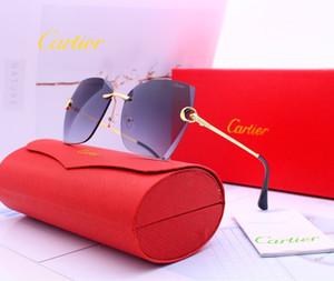 2020 nuovi occhiali da sole firmati con il designer di packaging originali uomini di lusso di marca 1CCartier occhiali da sole 1CUV400