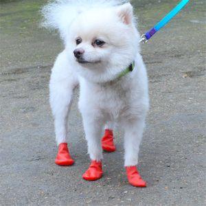 Sapatos cão Rubber Shoe Cover Waterproof Paw Protector antiderrapante Pet protecção exterior sujo impermeável botas de chuva frete grátis A03