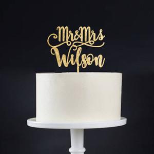 Boda personalizada de la torta, personalizado de la torta para la boda, encargo de la boda Topper personalizada, el Sr. y la Sra