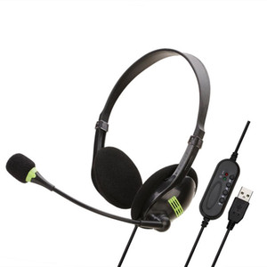Gaming headset online course Headphones office business Earphones 3.5mm jack music Stereo Bass Headphone for PC laptop Computer