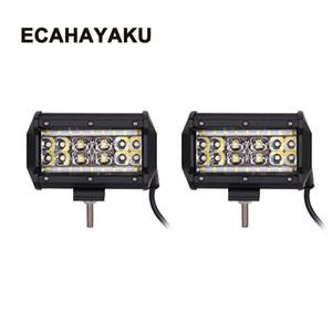 ECAHAYAKU 2x5 Inç 90 W Off-road Led İş Işık Bar Kamyonlar için Led Sis Farları SUV ATV 4x4 4D combo Işın araba styling