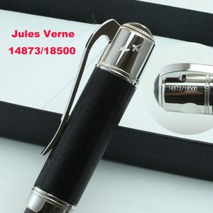 Luxury Fashion Writer Jules Verne Black-Red-Blue Metal Rollerball Pen Ballpoint Pen Fountain Pens with Serial Number 14873 18500