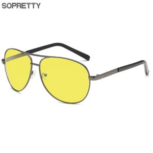 TAC Polarized Men Women Night Vision Driving Glasses , Sunglasses Goggles Driver Yellow Sun Glasses UV400 A29