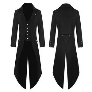 Men Trench Men's Outerwear &s Men's Clothing Lightweight Tuxedo Dress Designer Fashion Long Coat Punk Style Singlebreasted Windproof Slim Tr