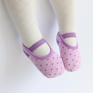 Baby Sock Non Slip Baby Floor Socks Girls Cotton Footsocks Fashion Floor Socks Soft Infant Footwear 6 Colors DW5177