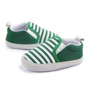 6Colors Newborn Baby Boys Girls First Walkers Casual Navy Striped Cotton Sneakers Canvas Children's Shoes Toddler Shoes Dropship