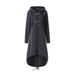 Womens Autumn Designer Hoodies Long Sleeve Cardigan Zipper Hat Female Plus Size Clothing Button Solid Color Casual Apparel