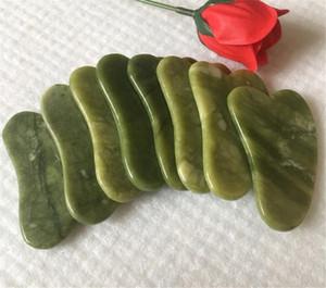 Natürliche Jade Kratzbrett Gesichtsmassagegerät Drucktherapieschaber Gesundheitswesen Schönheit Massage Guasha Guasha Werkzeug