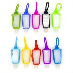 Boş Şişe ile 30ML El Temizleyici Silikon Kılıf Paketi Alt Şişe Şampuan Duş Jeli Makyaj Konteyner Temizleyici Sıvı