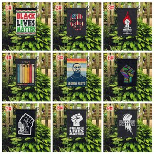 15styles i can't breathe Black Lives Matter Flag yard flag outdoor home for parade party supplies garden flag 45*30CM FFA4123