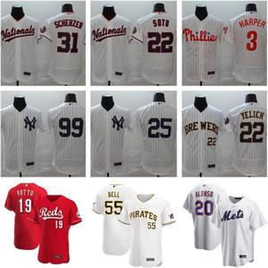 2020 Baseball 19 Joey Votto Trikots 14 Pete Rose 20 Pete Alonso 22 Juan Soto 31 Max Scherzer 45 Gerrit Cole 99 Aaron Richter Bryce Harper