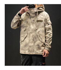 Fly Primavera e Outono Além disso Jacket Designer Hommes solto jaqueta camuflada Mens Designer Brasão Zipper Casual