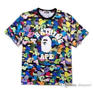 Vente en gros nouvelle couleur hommes Camo Cartoon Imprimer en vrac T-shirts Hommes Femmes Casual Sport lâche Hip Hop manches courtes T-shirts