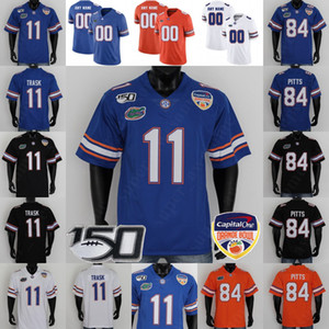 Florida Gators del calcio Jersey Kyle Trask Kyle Pitts Jonathan Greenard Lamical Perine Trevon Grimes Aaron Hernandez Tim Tebow Emmitt Smith