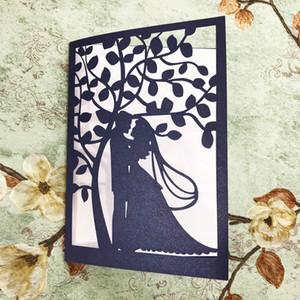 Cartão do convite 15pcs Exquisite Wedding oco Out noivos lindo padrões para acoplamento do casamento Cartão Decoração Blessing