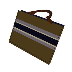 superior 33cm bolso de mano bolsa de la compra 2020 de la moda hombres y las mujeres clásicas de la lona cartera del bolso de compras del bolso del lote