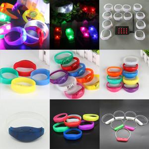 Blinkende LED Unisex Armband Ton Controlled Light Up-Armband Handgelenk-Band-Leuchtarmband für Partei liefert VT0109