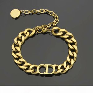 luxury designer jewelry women necklaces rose Gold Thick Chains necklaces with CD stainless steel bracelet and necklace suit fashion link32
