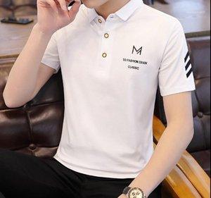 Polos manches courtes Turn Down Col d'été Hommes Vêtements T-shirts Classique Hommes Designer Casual Hauts solides