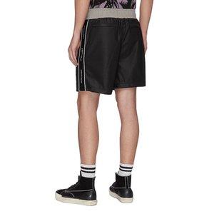 Calças Logo Moda Verão EUA Side 3M reflexiva malha Polyster Shorts Mulheres Homens High Street médios que movimentam Shorts