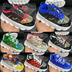 Catena Top bambini delle scarpe da tennis Italia Designer 2020 Multi-Color Gomma Suede Leopard Bianco Stampa Scarpe fondo spesso Bambini maschi Bambine femmine Size 26-35