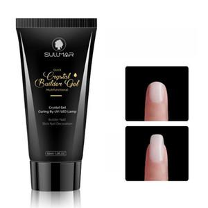 30мл Поли гель Акрил Наращивание ногтей гель Gum Polygel Quick Builder UV LED Nail Extension NON Форма Cristal Gel