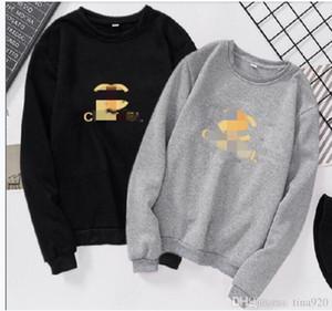 최고 품질 가을 편지 긴 스웨터 후드 풀오버 까마귀 크기 S-3XL 소매 벨벳 패션 남여 남성 여성 미래 후디 인쇄하기