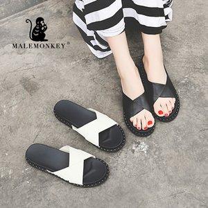 KATER 023.115 im Freien Frauen Sandale beiläufige 2020 Mode-Sommer-Damen Slipper elegante Frauen Slides starke untere Schuhe Schwarz