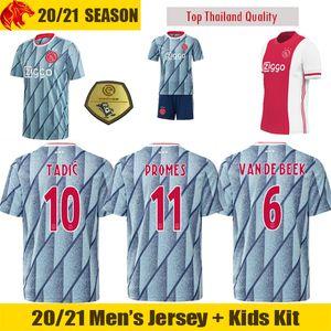 20 21 Ajax Fußballtrikots TADIC PROMES 2020 VAN DE BEEK HUNTELAAR Fußballtrikot ALVAREZ Ajax Fußballtrikot