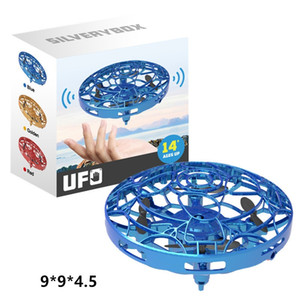 20pcsUFO Gesture Induction Suspension Aircraft Smart Flying Saucer With LED Lights UFO Ball Flying Aircraft RC Toys Led Gift Induction Drone